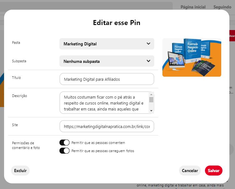 pinterest marketing digital editar 2