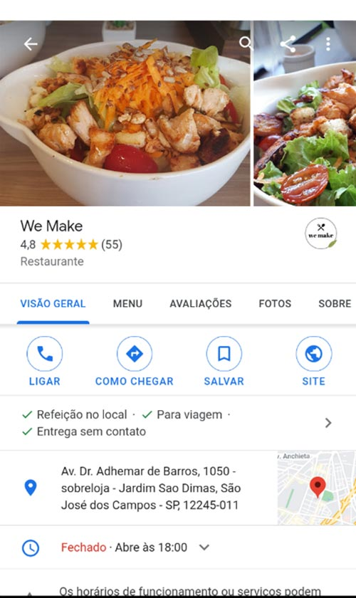 restaurante informacoes GMN